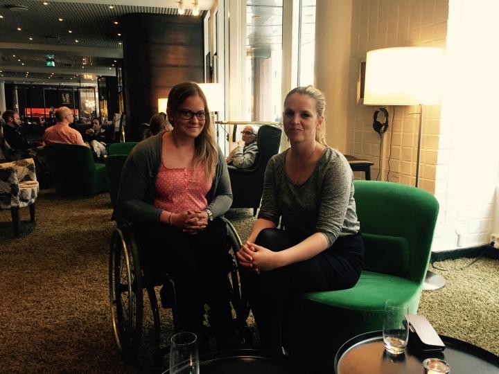 INSPIRERENDE MØTE: Det ble et herlig og inspirerende møte med Ingrid Olava en junidag